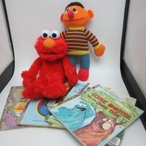 Sesame Street toy and book lot